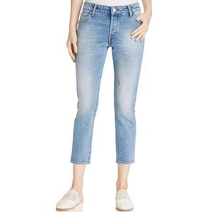 NWT WARP+WEFT CDG Paris High Rise Cropped Jeans